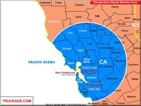 san jose demographics map truck ads 174 san francisco oakland san jose designated