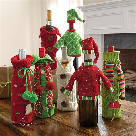 holiday wine bottle covers christmas pinterest