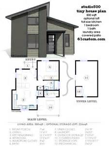 Modern Small House Floor Plans Studio500 Modern Tiny House Plan 61custom