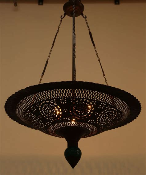 Moroccan Style Chandelier Moroccan Hanging Metal Chandelier At 1stdibs