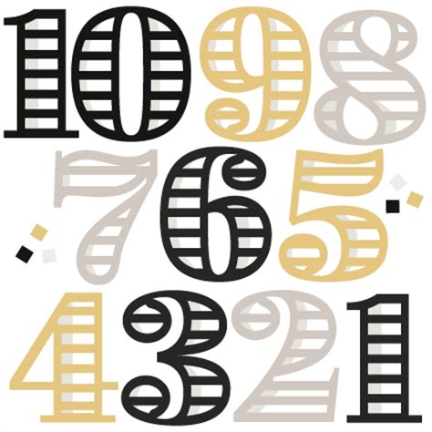 new year by the numbers new year numbers svg cutting files for scrapbooking