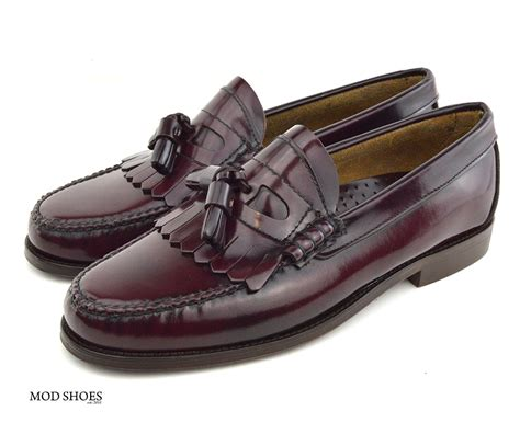 oxblood tassel loafers oxblood tassel loafer the duke by modshoes mod shoes