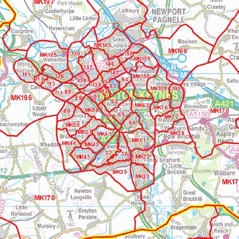 postcode sector map 7 east midlands gif image