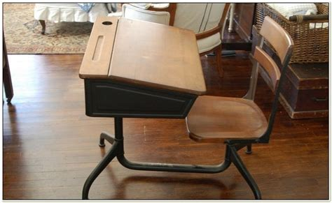 School Desk With Chair Attached by Antique School Desk With Attached Chair Chairs Home
