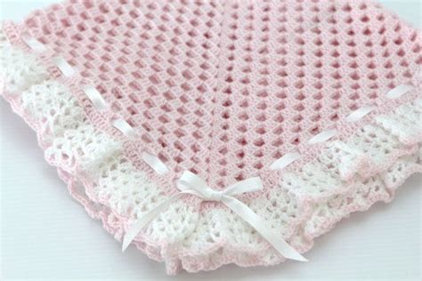 Pashminah Instan Small Ribbon instant pattern crochet ribbon heirloom baby blanket afghan christening baptism shawl