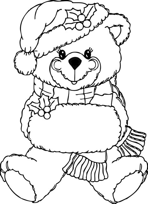 christmas coloring pages teddy bear free printable teddy bear coloring pages for kids