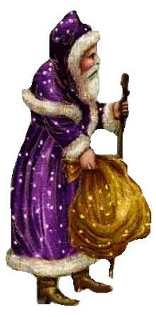 victorian free christmas clipart santa claus purple suit