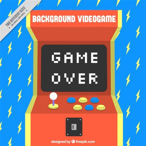 video game wallpaper border blue background with lightning and a console vector free