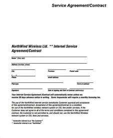 contract template for services agreement simple service contract sle 7 exles in word pdf