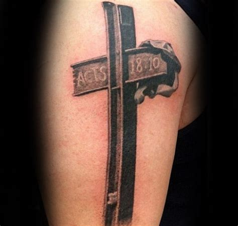 steel cross tattoos 100 memorial tattoos for timeless tribute design ideas