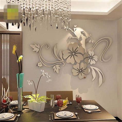 decoration home decor large art diy 3d wall clock design 3d mirror floar art vinyl removable wall sticker acrylic