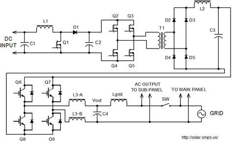 grid tie inverter dc ac schematic grid free engine image