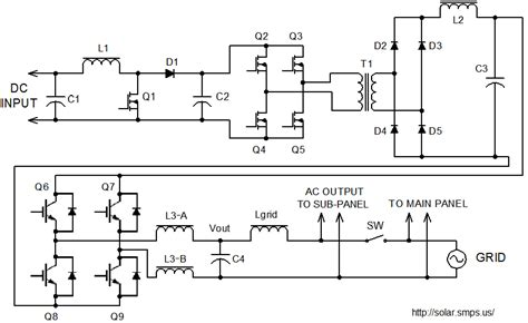grid tie inverter schematic and principals of operation