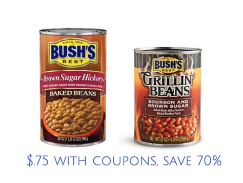 bushs baked beans 1 off coupon coupons canada bush s baked beans and bush s grillin beans coupon stack
