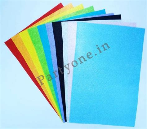 Craft Felt Paper - felt craft paper pack a4 size set of 10 in assor