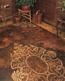 Decorative Floor Painting Ideas 34 Best Painted Concrete Floor Stencils Custom Designs For Floor Makeovers Images On Pinterest