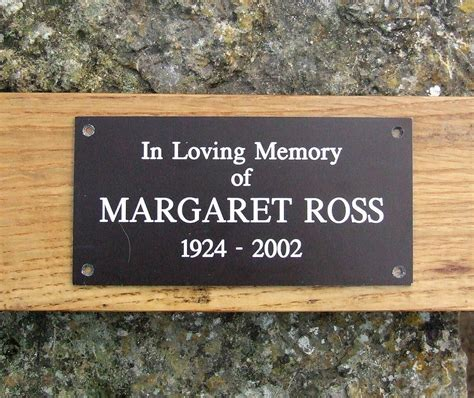 plaque for bench personalised memorial bench plaque by england signs