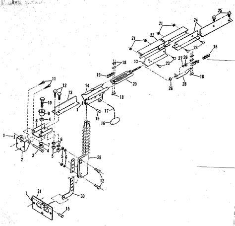 Rail Assembly Diagram Parts List For Model 139654200 Craftsman Garage Door Parts List