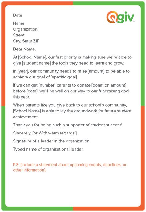 donation letter template for schools 9 awesome and effective fundraising letter templates