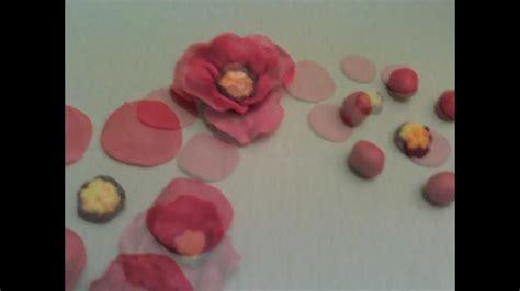 fiori cioccolato plastico come fare fiori di cioccolato plastico papaveri ricetta