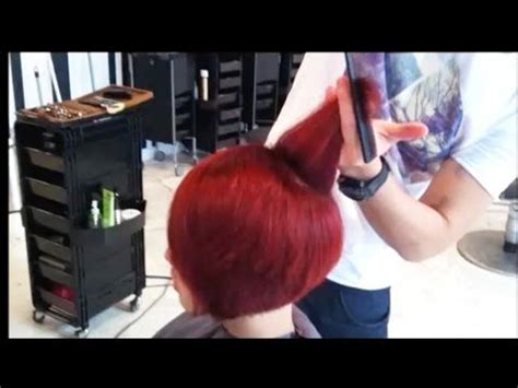 Kenneth Siu Timeless Concave Bob Youtube | 17 best ideas about red bob haircut on pinterest red bob