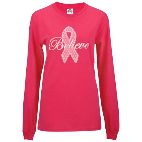 Ribbon Shirt Pink by Believe Pink Ribbon Sleeve T Shirt Pink Ribbon Store