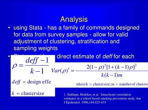 cross sectional data stata ppt design of cross sectional surveys using cluster
