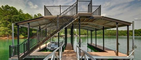 how to build a boat dock roof about top docks wahoo docks dealer site