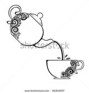Teacup Outline Drawings by Tea Pot Outline Stock Photos Images Pictures