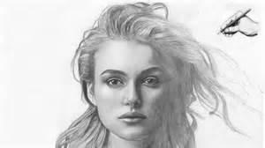 keira knightley portrait zeichnung speed drawing draw realistic face elizabeth