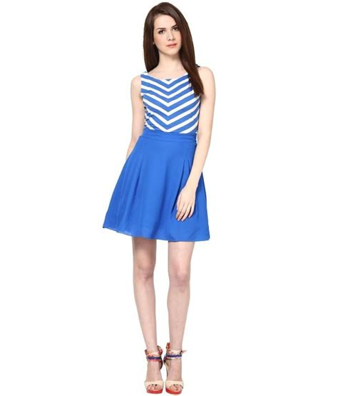 Blue Sorry With Stripe Sml Dress buy the vanca blue striped dress at best prices in india snapdeal