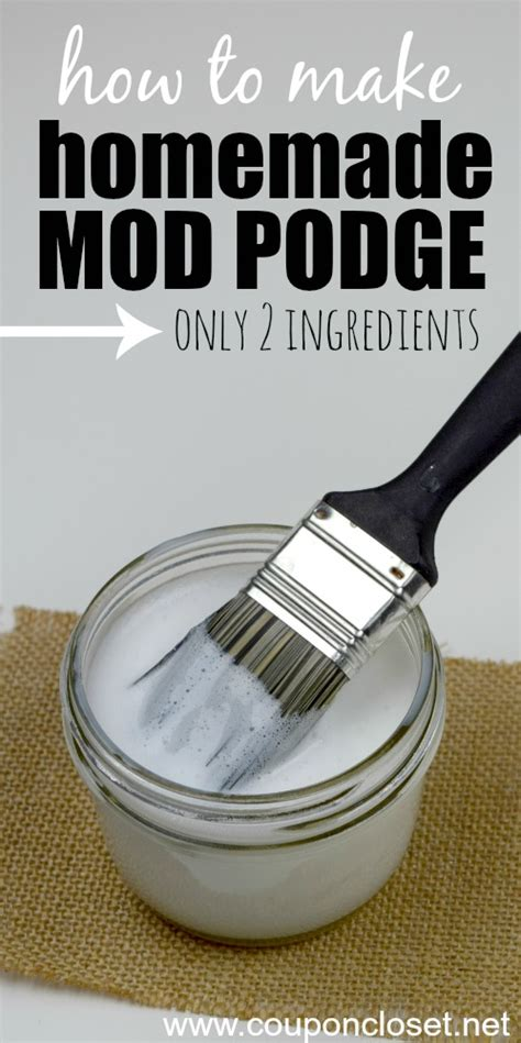 How To Make Decoupage Glue - how to make mod podge only 2 ingredients
