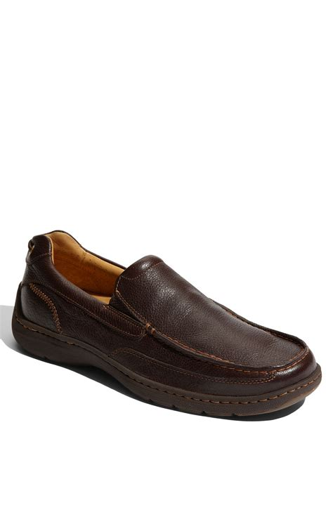 sperry loafers sperry top sider gold leather loafer in brown for