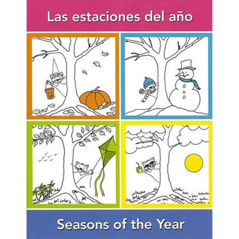 imagenes para colorear las estaciones del año seasons of the year spanish activity book language adventure