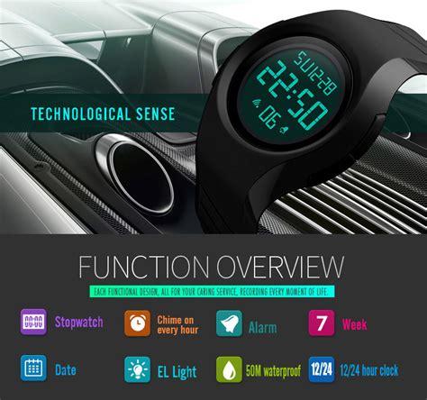 Jam Tangan Daniel Wellington Waterproof skmei jam tangan digital pria 1269 black