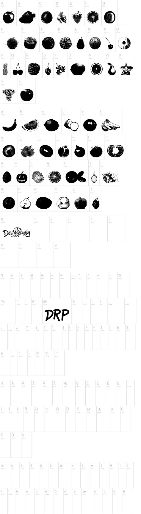 b fruit x dingbat an apple a day fruit font dingbat by www davidpustansky