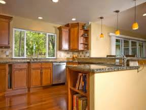 kitchen color ideas for kitchen walls with wood cabinet
