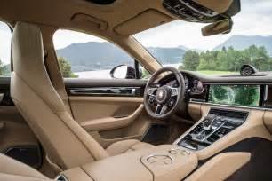 Porsche Panamera Interior 2017 Porsche Panamera 4s Drive Review Automobile