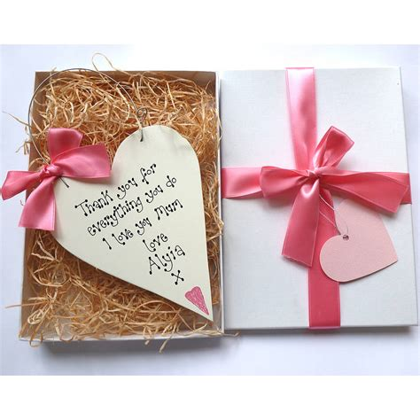 mother gifts personalised mothers day gift box by country heart