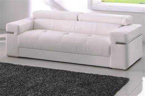 sofa in white bonded leather by american eagle