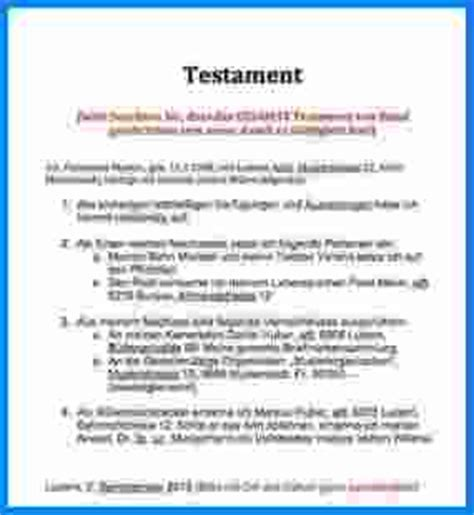 Testament Vorlagen Muster Kostenlos 11 Handschriftliches Testament Vorlage Invitation Templated