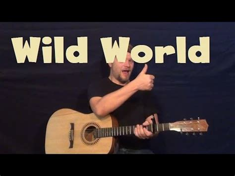tutorial guitar wild world wild world cat stevens easy strum guitar lesson with