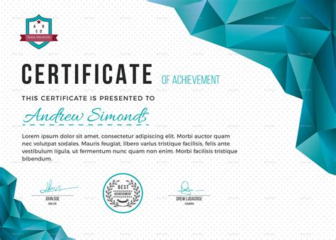 visual design certificate nait certificate template by artistpro graphicriver