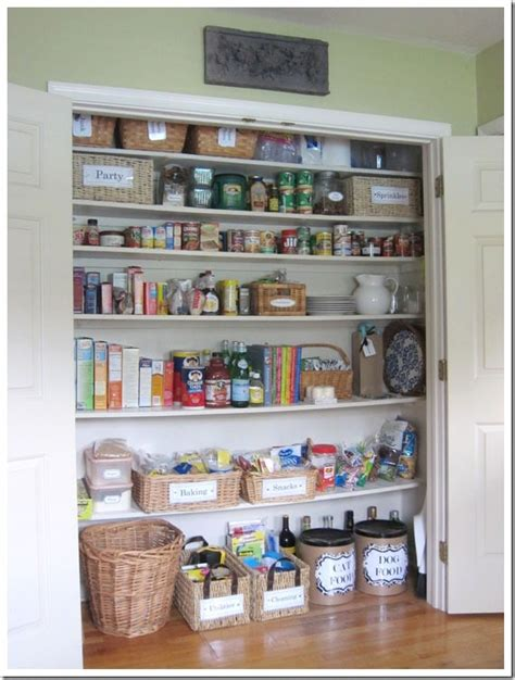 Creating A Pantry by How I Transformed A Coat Closet Into A Pantry In Own