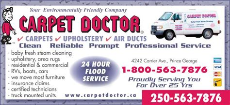 Carrier Plumbing Prince George by Carpet Doctor Power Vac Services Prince George Bc
