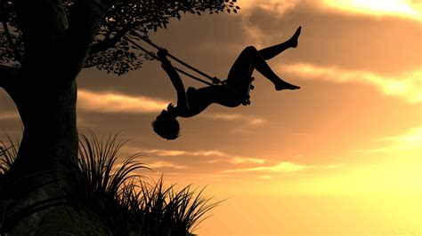 swing wallpaper wallpaper tree sunset swing silhouette on swing