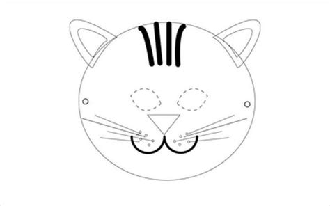 animal mask template animal templates free premium