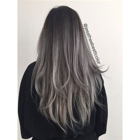 bayalage grey hair black grey ombre i ve just seen a face pinterest