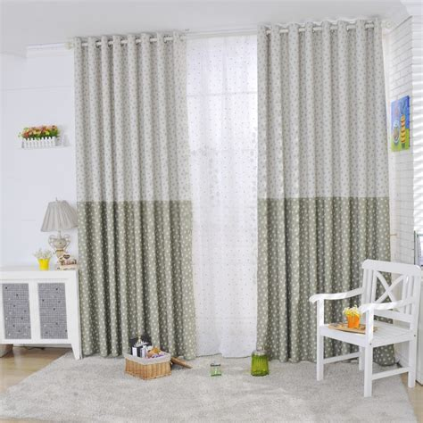 green casual curtains printed with beautiful flowers