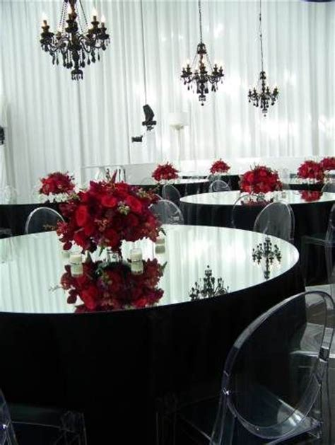 themes in black mirror black and red wedding theme gorgeous black tableclothes